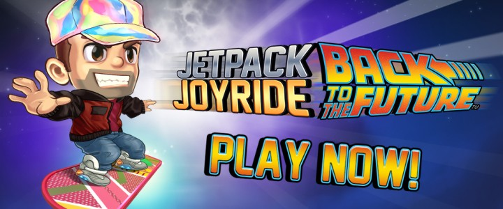 Back to the Future™ has landed in Jetpack Joyride!
